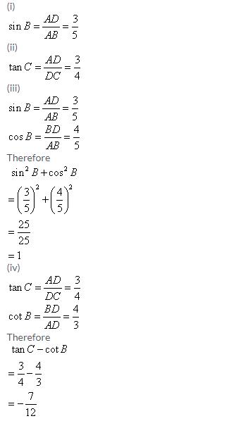 Selina Concise Mathematics Class 9 ICSE Solutions Trigonometrical Ratios image - 45