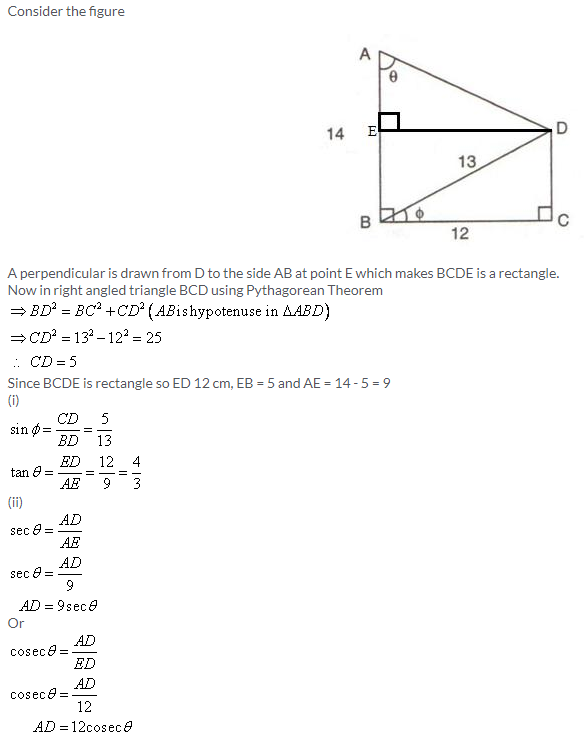 Selina Concise Mathematics Class 9 ICSE Solutions Trigonometrical Ratios image - 48