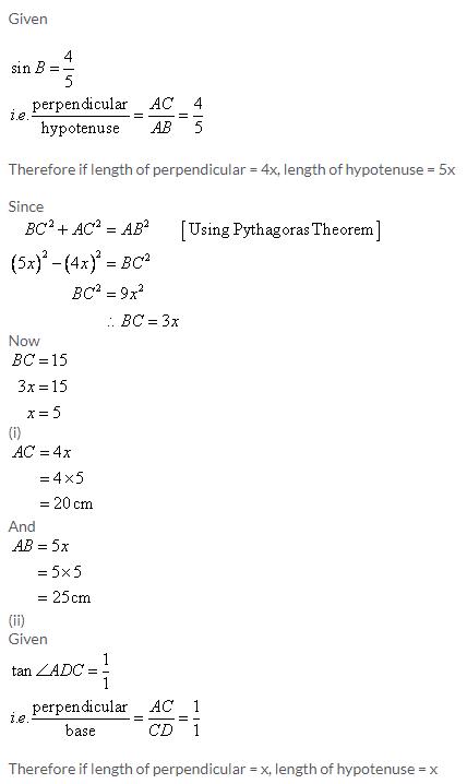 Selina Concise Mathematics Class 9 ICSE Solutions Trigonometrical Ratios image - 49