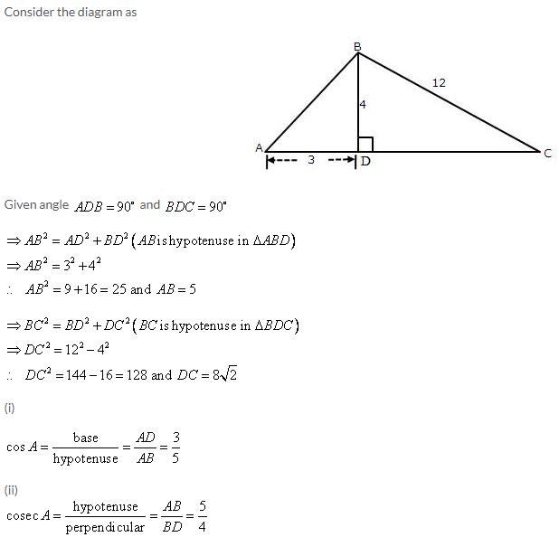 Selina Concise Mathematics Class 9 ICSE Solutions Trigonometrical Ratios image - 5