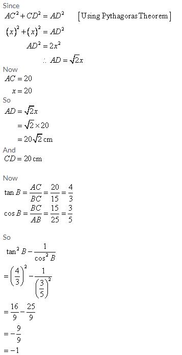 Selina Concise Mathematics Class 9 ICSE Solutions Trigonometrical Ratios image - 50