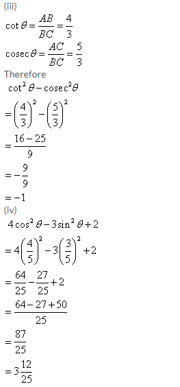 Selina Concise Mathematics Class 9 ICSE Solutions Trigonometrical Ratios image - 54