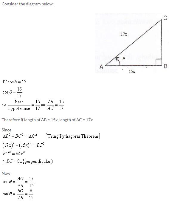 Selina Concise Mathematics Class 9 ICSE Solutions Trigonometrical Ratios image - 55