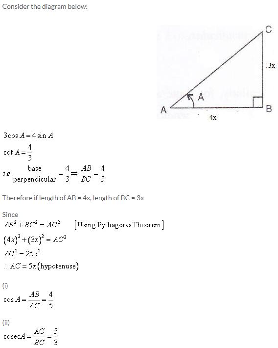 Selina Concise Mathematics Class 9 ICSE Solutions Trigonometrical Ratios image - 59