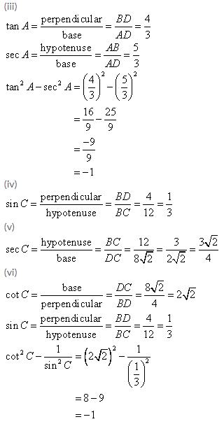 Selina Concise Mathematics Class 9 ICSE Solutions Trigonometrical Ratios image - 6