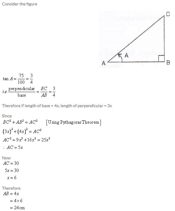 Selina Concise Mathematics Class 9 ICSE Solutions Trigonometrical Ratios image - 61