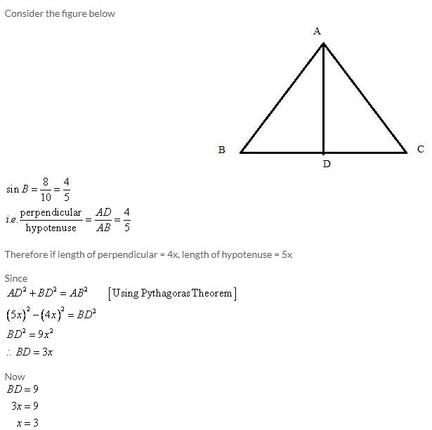 Selina Concise Mathematics Class 9 ICSE Solutions Trigonometrical Ratios image - 67