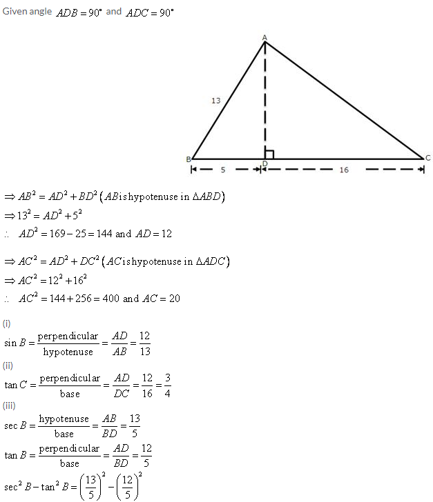 Selina Concise Mathematics Class 9 ICSE Solutions Trigonometrical Ratios image - 7