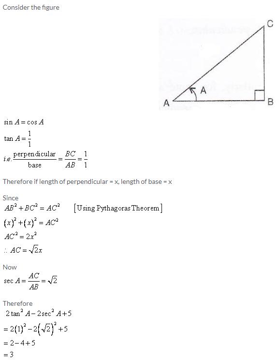 Selina Concise Mathematics Class 9 ICSE Solutions Trigonometrical Ratios image - 70