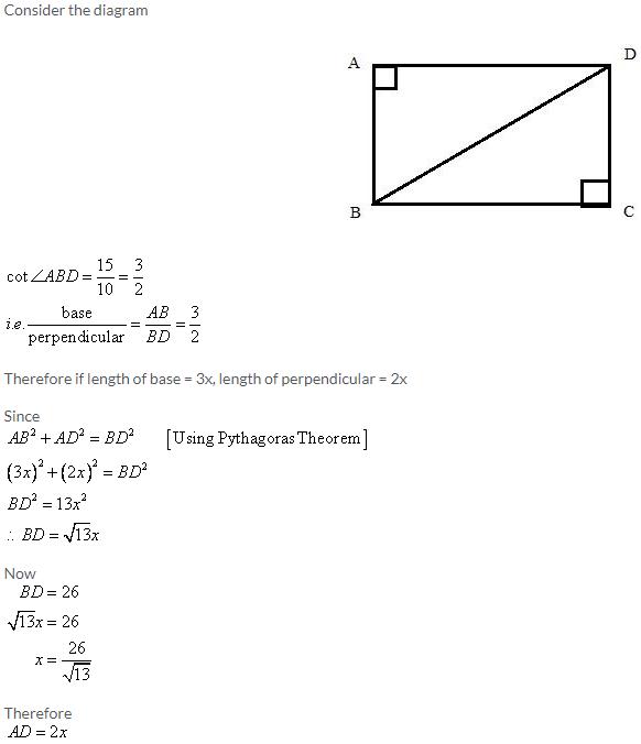 Selina Concise Mathematics Class 9 ICSE Solutions Trigonometrical Ratios image - 71