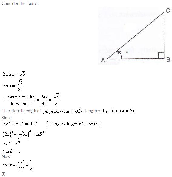 Selina Concise Mathematics Class 9 ICSE Solutions Trigonometrical Ratios image - 73