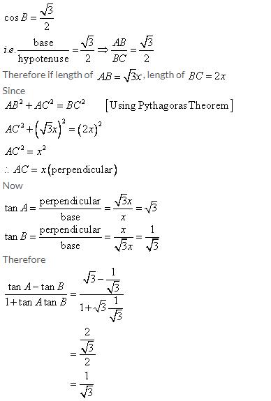 Selina Concise Mathematics Class 9 ICSE Solutions Trigonometrical Ratios image - 76