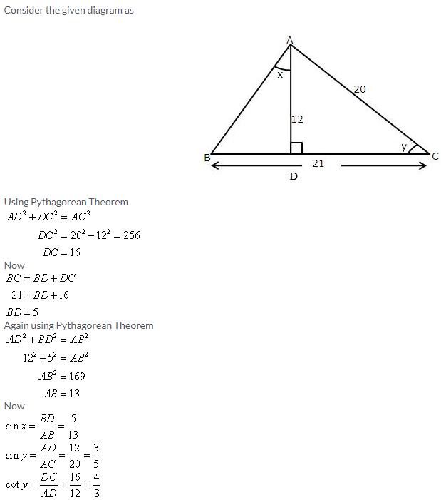 Selina Concise Mathematics Class 9 ICSE Solutions Trigonometrical Ratios image - 77