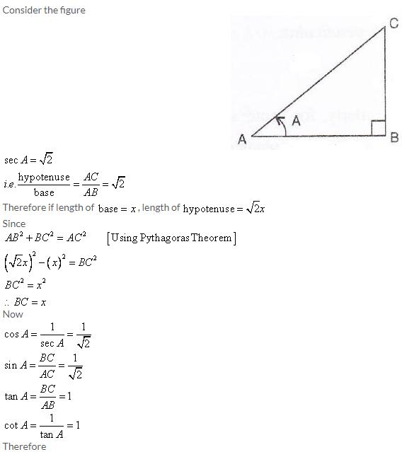 Selina Concise Mathematics Class 9 ICSE Solutions Trigonometrical Ratios image - 79