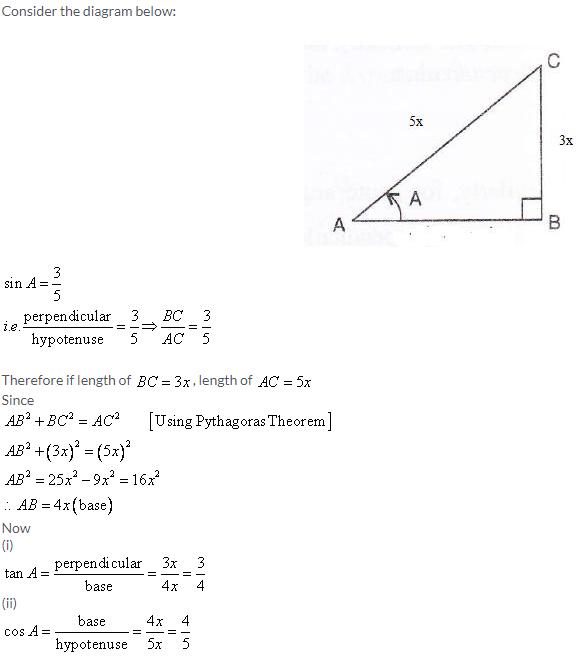 Selina Concise Mathematics Class 9 ICSE Solutions Trigonometrical Ratios image - 9