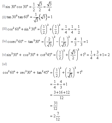 Selina Concise Mathematics Class 9 ICSE Solutions Trigonometrical Ratios of Standard Angles image - 1