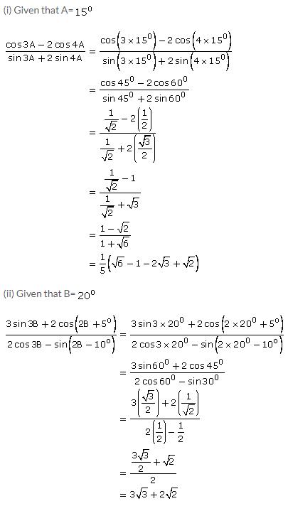 Selina Concise Mathematics Class 9 ICSE Solutions Trigonometrical Ratios of Standard Angles image - 11