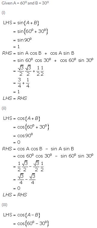 Selina Concise Mathematics Class 9 ICSE Solutions Trigonometrical Ratios of Standard Angles image - 12