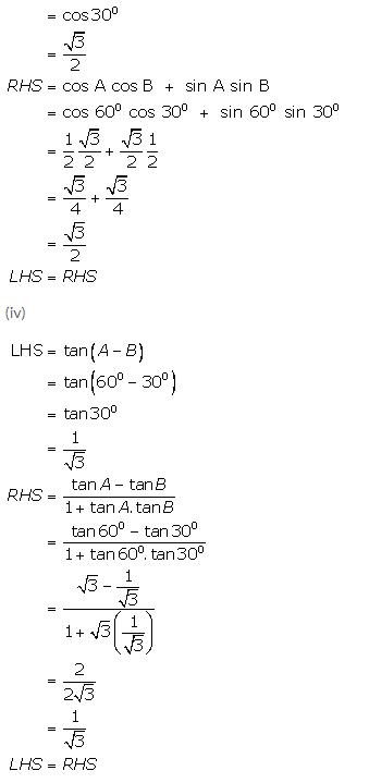 Selina Concise Mathematics Class 9 ICSE Solutions Trigonometrical Ratios of Standard Angles image - 13
