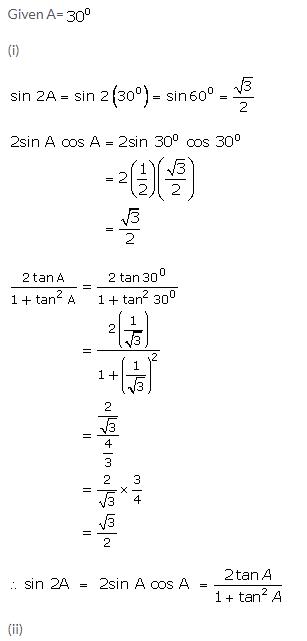 Selina Concise Mathematics Class 9 ICSE Solutions Trigonometrical Ratios of Standard Angles image - 14