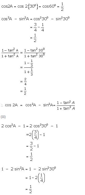 Selina Concise Mathematics Class 9 ICSE Solutions Trigonometrical Ratios of Standard Angles image - 15.