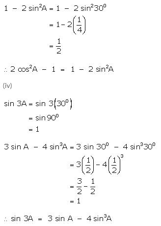 Selina Concise Mathematics Class 9 ICSE Solutions Trigonometrical Ratios of Standard Angles image - 16