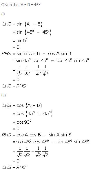 Selina Concise Mathematics Class 9 ICSE Solutions Trigonometrical Ratios of Standard Angles image - 17