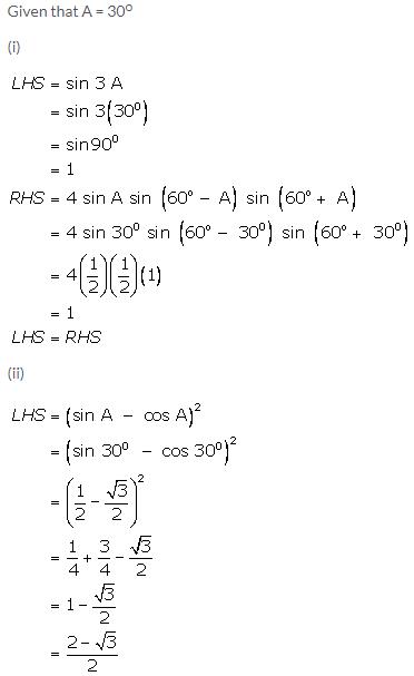 Selina Concise Mathematics Class 9 ICSE Solutions Trigonometrical Ratios of Standard Angles image - 18