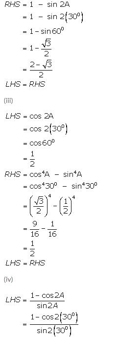 Selina Concise Mathematics Class 9 ICSE Solutions Trigonometrical Ratios of Standard Angles image - 19