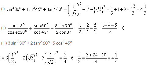 Selina Concise Mathematics Class 9 ICSE Solutions Trigonometrical Ratios of Standard Angles image - 2