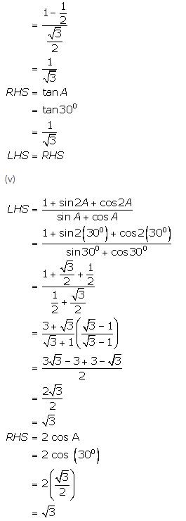 Selina Concise Mathematics Class 9 ICSE Solutions Trigonometrical Ratios of Standard Angles image - 20
