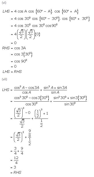 Selina Concise Mathematics Class 9 ICSE Solutions Trigonometrical Ratios of Standard Angles image - 21