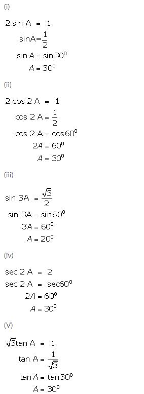 Selina Concise Mathematics Class 9 ICSE Solutions Trigonometrical Ratios of Standard Angles image - 22