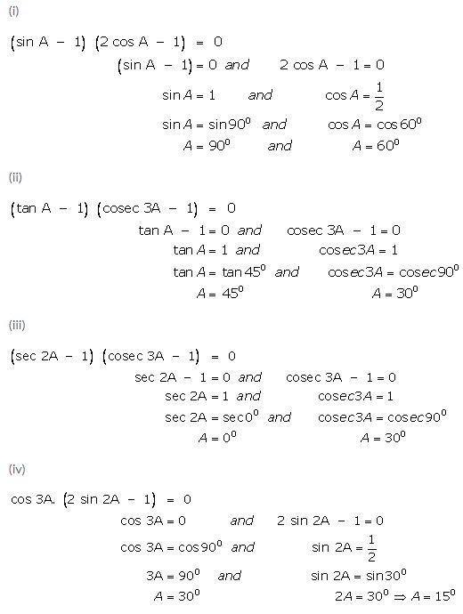 Selina Concise Mathematics Class 9 ICSE Solutions Trigonometrical Ratios of Standard Angles image - 24