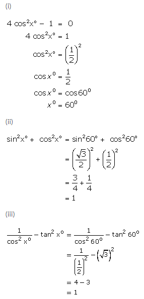 Selina Concise Mathematics Class 9 ICSE Solutions Trigonometrical Ratios of Standard Angles image - 27