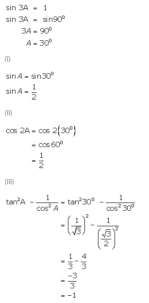 Selina Concise Mathematics Class 9 ICSE Solutions Trigonometrical Ratios of Standard Angles image - 29