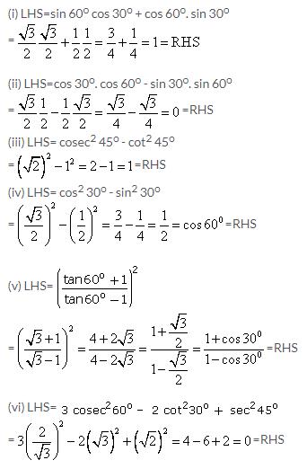 Selina Concise Mathematics Class 9 ICSE Solutions Trigonometrical Ratios of Standard Angles image - 3