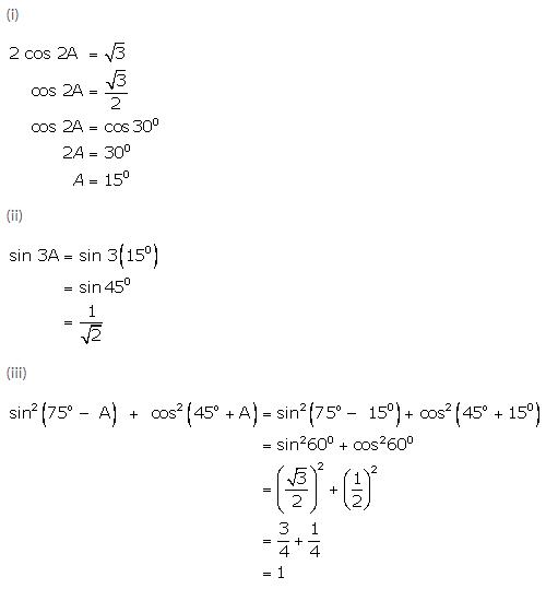 Selina Concise Mathematics Class 9 ICSE Solutions Trigonometrical Ratios of Standard Angles image - 30