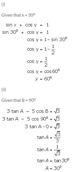Selina Concise Mathematics Class 9 ICSE Solutions Trigonometrical Ratios of Standard Angles image - 31