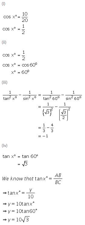 Selina Concise Mathematics Class 9 ICSE Solutions Trigonometrical Ratios of Standard Angles image - 32