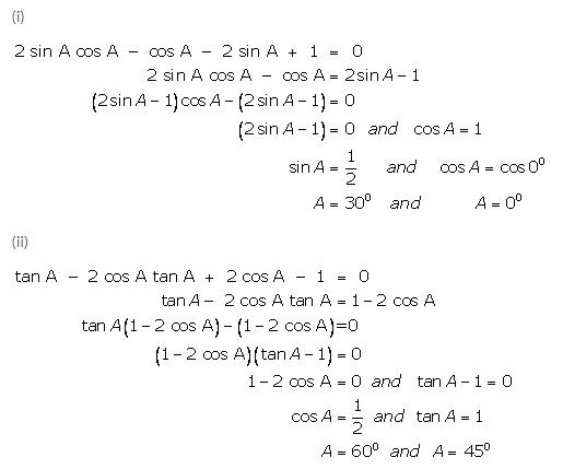 Selina Concise Mathematics Class 9 ICSE Solutions Trigonometrical Ratios of Standard Angles image - 34