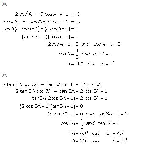 Selina Concise Mathematics Class 9 ICSE Solutions Trigonometrical Ratios of Standard Angles image - 35