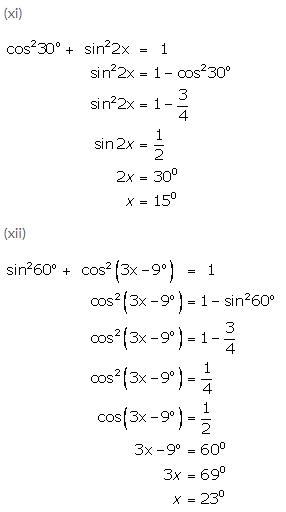 Selina Concise Mathematics Class 9 ICSE Solutions Trigonometrical Ratios of Standard Angles image - 39