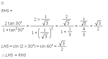 Selina Concise Mathematics Class 9 ICSE Solutions Trigonometrical Ratios of Standard Angles image - 4