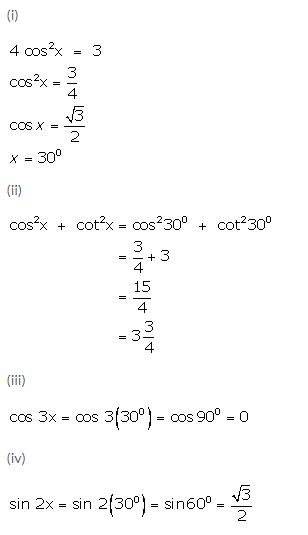 Selina Concise Mathematics Class 9 ICSE Solutions Trigonometrical Ratios of Standard Angles image - 40