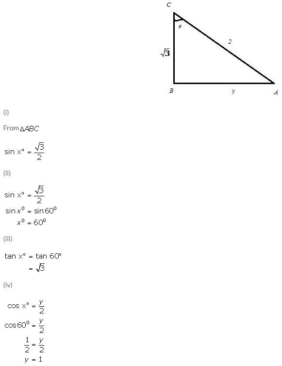 Selina Concise Mathematics Class 9 ICSE Solutions Trigonometrical Ratios of Standard Angles image - 41