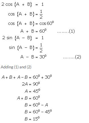 Selina Concise Mathematics Class 9 ICSE Solutions Trigonometrical Ratios of Standard Angles image - 42