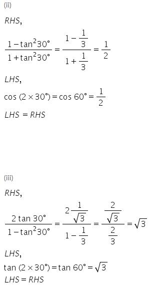 Selina Concise Mathematics Class 9 ICSE Solutions Trigonometrical Ratios of Standard Angles image - 5