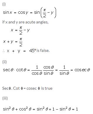 Selina Concise Mathematics Class 9 ICSE Solutions Trigonometrical Ratios of Standard Angles image - 9
