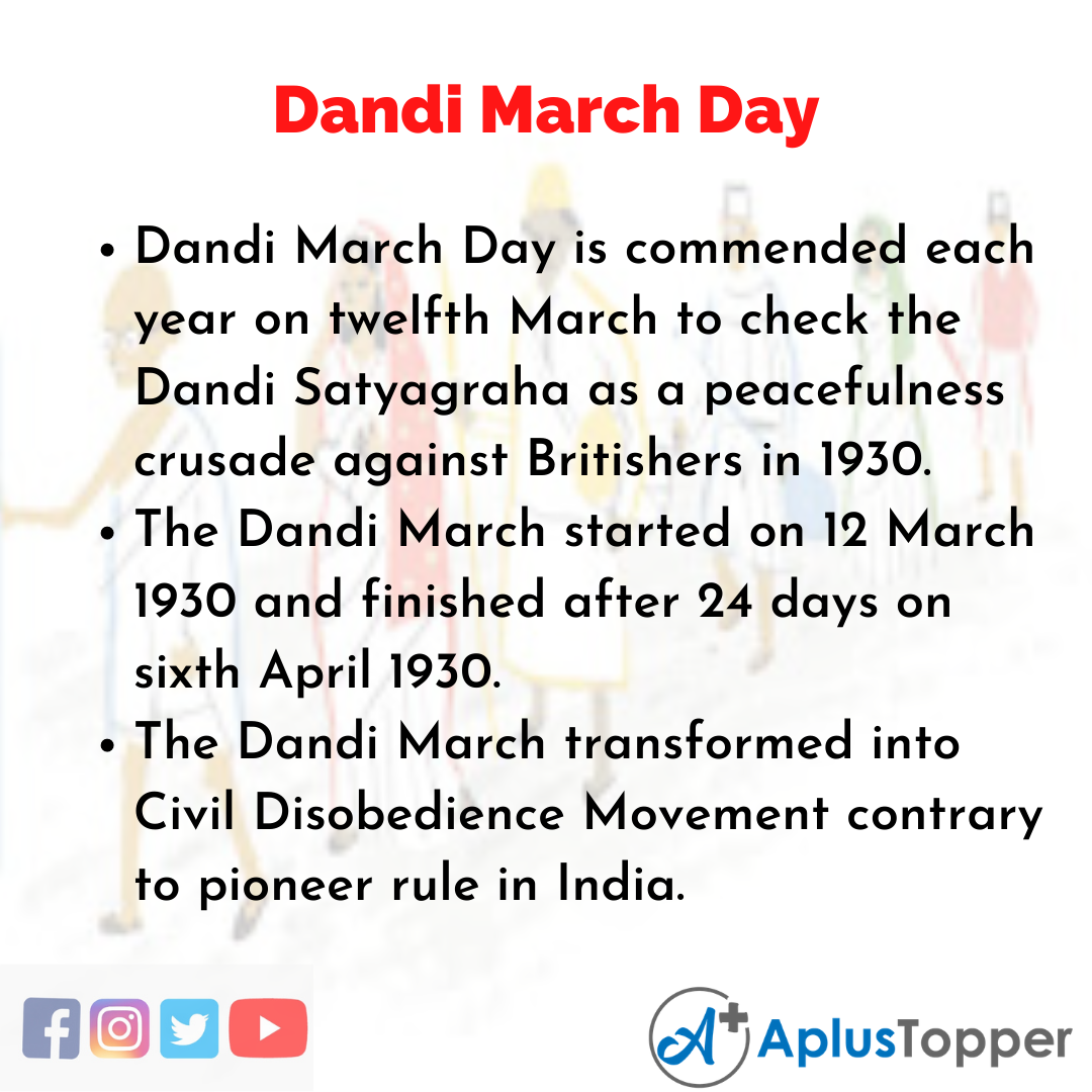 10 Lines about Dandi March Day